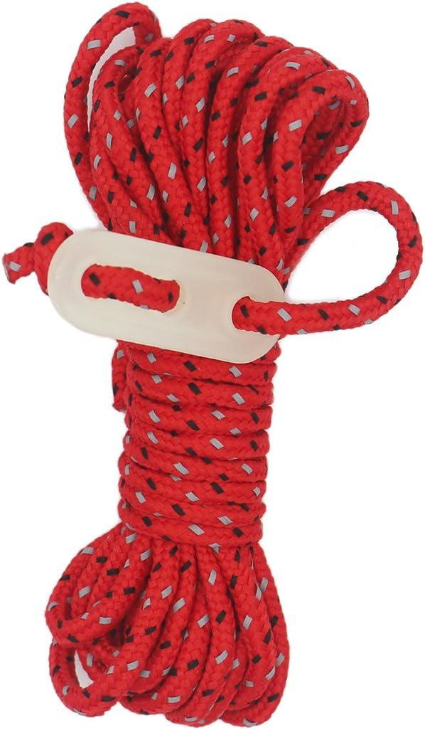 Lustre HIGH-VIS Guy cuerdas 4/* 4/m tienda de campa/ña Cuerda de reflectante resistente al viento