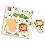 Brinquedo Pedagogico Madeira Ache Encaixe Safari Pequeno Brincadeira De Criança Multicor
