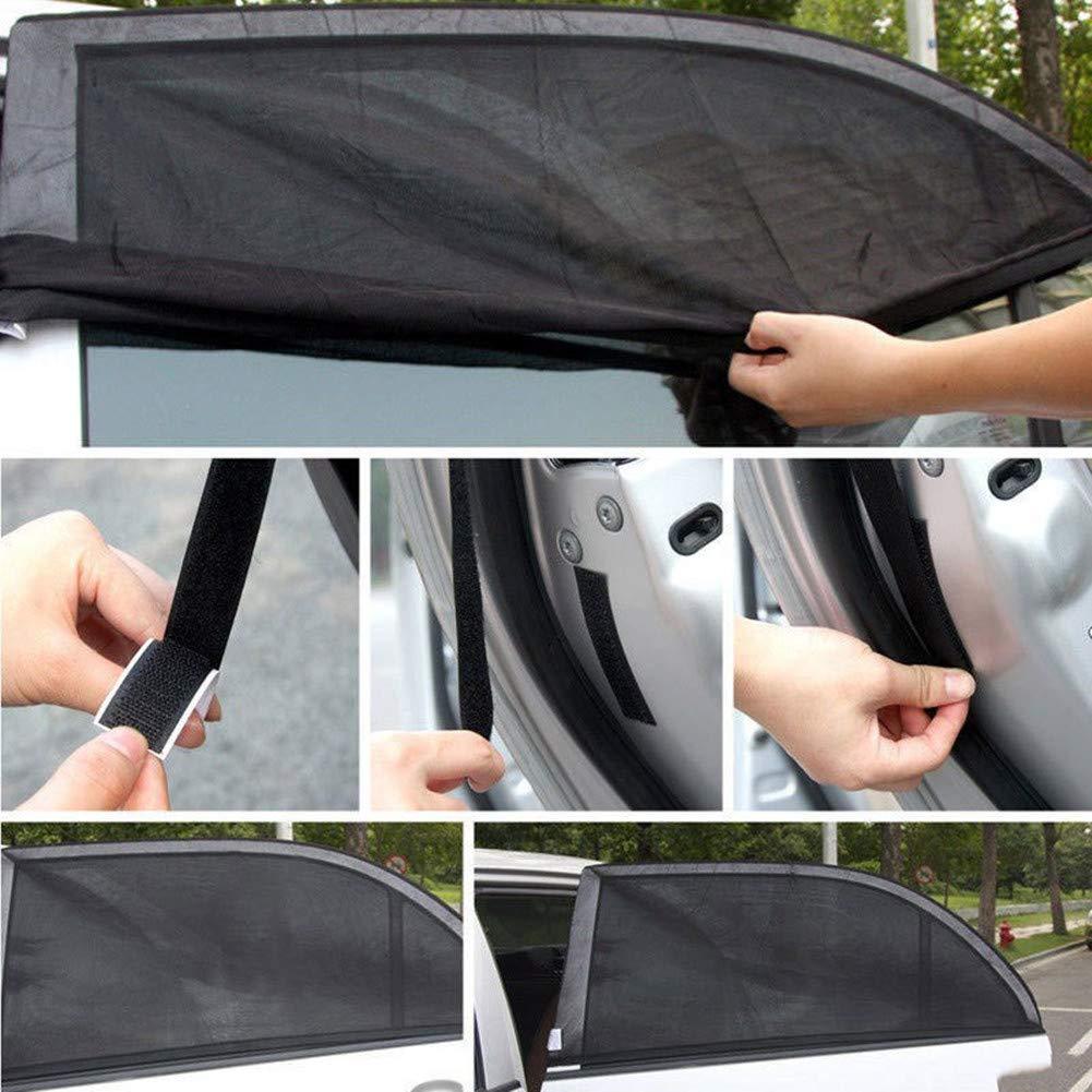 S 54 * 92 cm Happyit 2 St/ücke Auto Sonnenschutz Fenster Abdeckung Sonnenschutz Vorhang UV Schutz Schild Visier Mesh Staub Auto Seitenfenster Mesh