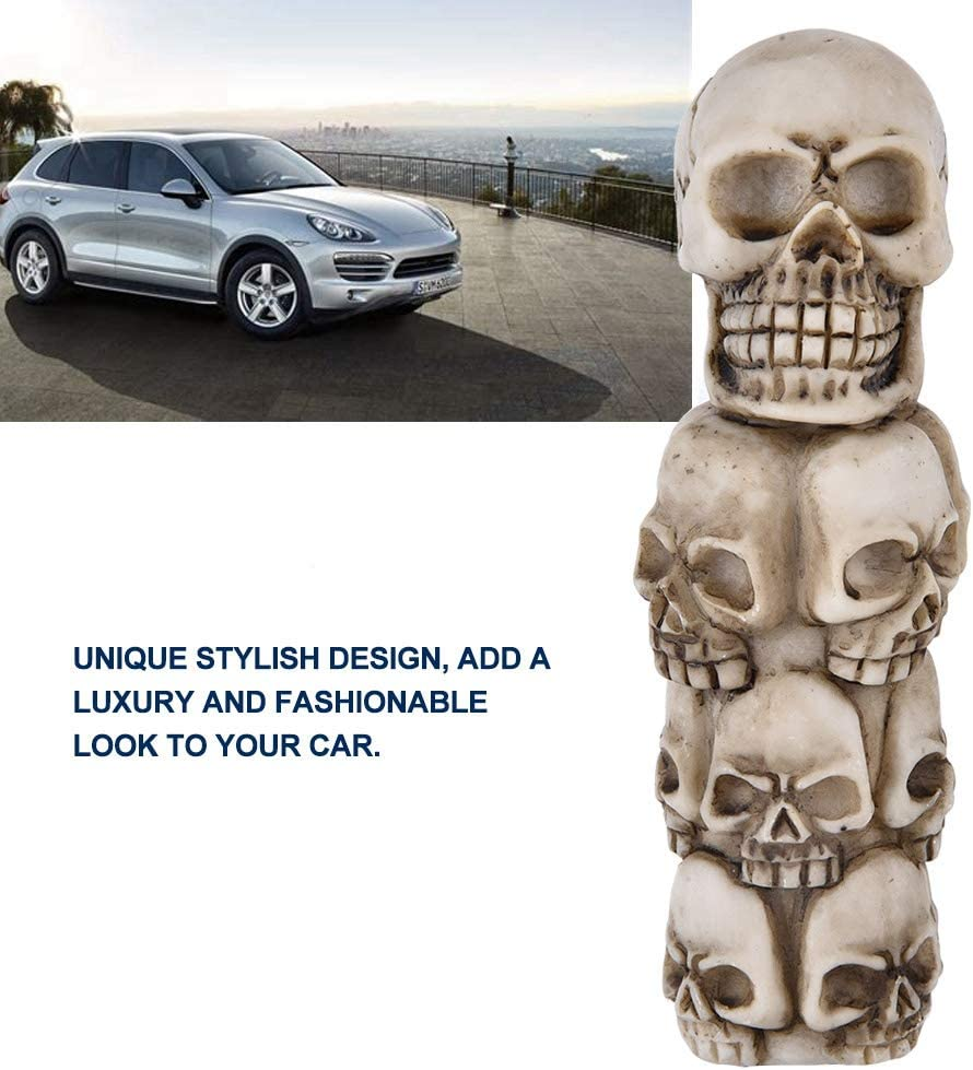 Suuonee Gear Shift Knob Lever Skeleton Skull Head Many Faces Car Manual Gear Shift Knob Stick Lever Shifter Universal