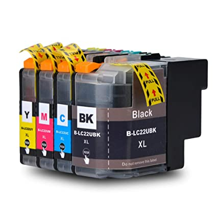 Teng® LC22UXL - Cartuchos de Tinta (1 Negro, 1 Cian, 1 Magenta y 1 ...
