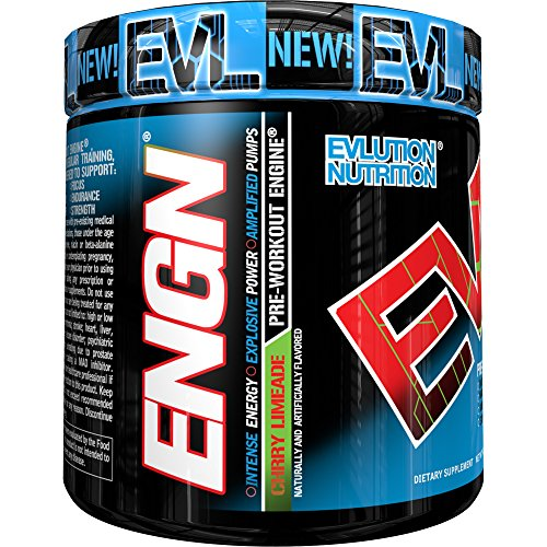 Evlution Nutrition EVL ENGN Pre-workout Powder, Pikatropin-Free, Cherry Limeade, 30 Servings (9 Oz)