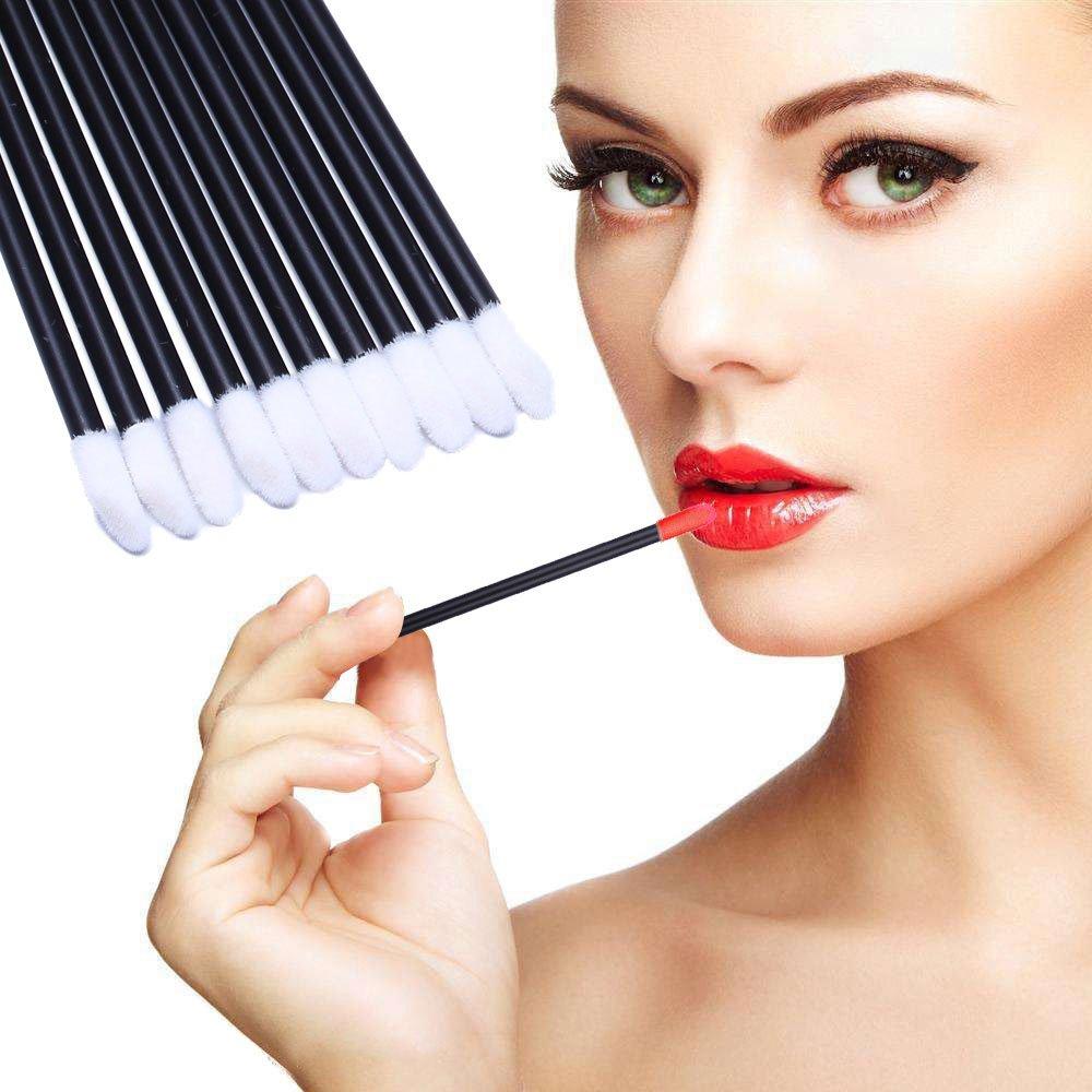 200pcs Disposable Lip Brush Lip Gloss Applicators Lipstick Wands Tool Kits (200): Beauty