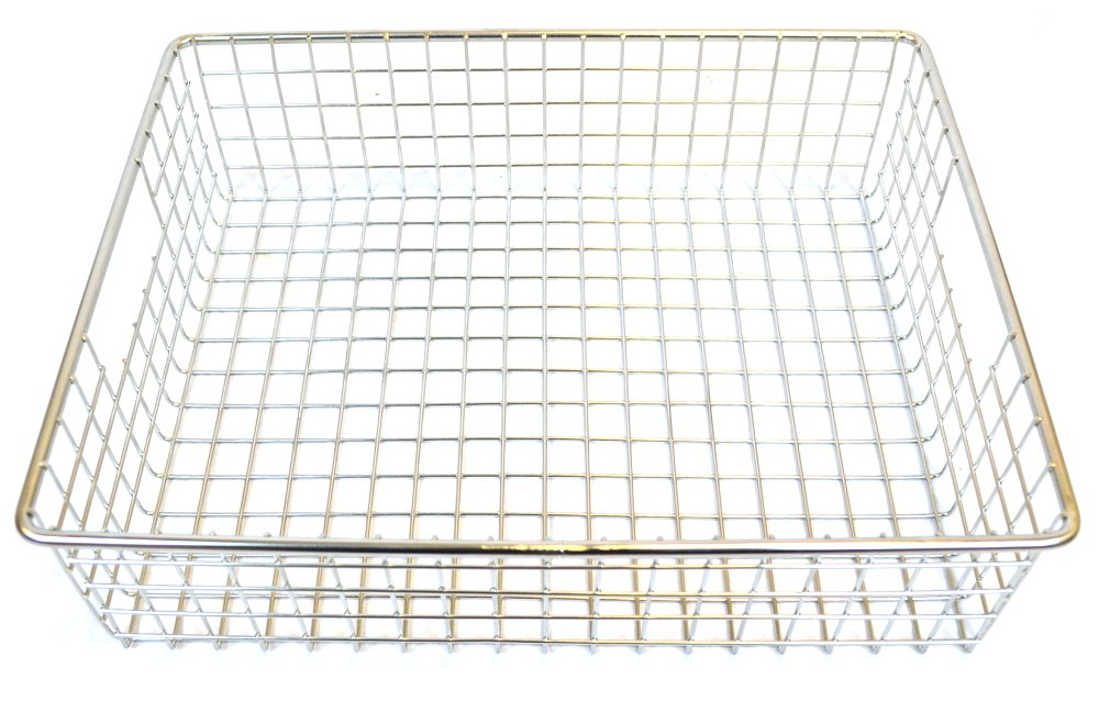 Stainless Steel Square Mesh Basket - 14'' x 11'' x 4''