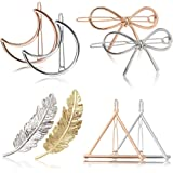 Molletta Capelli,Fascigirl 8 pezzi Hollow Double Triangle Loop Round Moon Bowknot Hairpins Accessori Metallo forcine per capelli per Donne