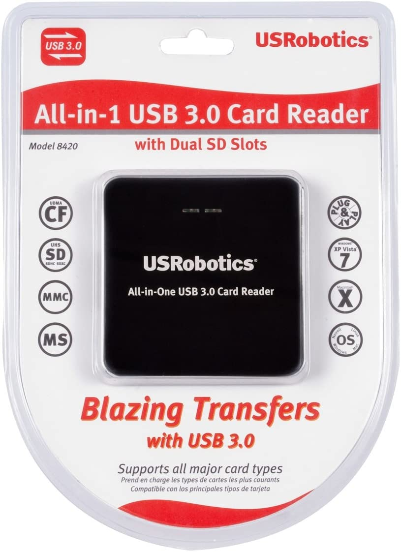 Usrobotics All-in-one USB3.0 Card Reader
