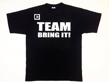 Hombre Camiseta con Texto Team Just Bring IT, Inspirada The Rock, de WWE Wrestling, Negro: Amazon.es: Deportes y aire libre