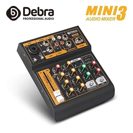 Amazon.com: Debra Audio Mini mezclador de audio portátil de ...