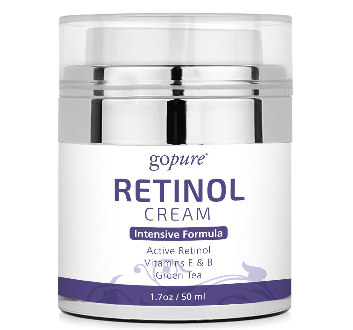 goPure Retinol Cream for Face - Anti Aging Retinol - Anti Wrinkle Retinol Moisturizer - Airless Jar - 1.7oz