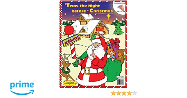 Twas The Night Before Christmas Coloring Book 85x11 ColoringBook Really Big Books 9781935266266 Amazon
