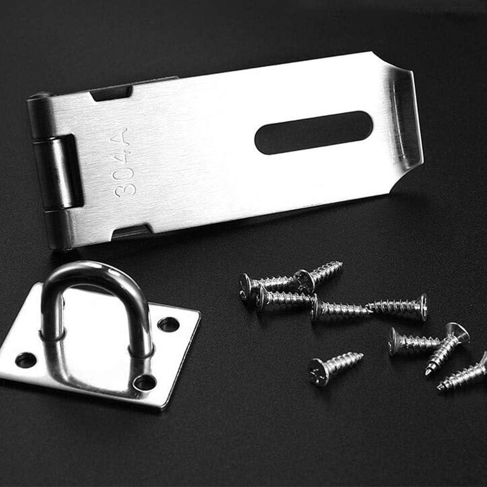 Size : 3 inch MUMA Stainless Steel Padlock Hasp Heavy Duty Door Clasp Door Lock Gate Latch 4 Inches For Door Window Crate Fitting
