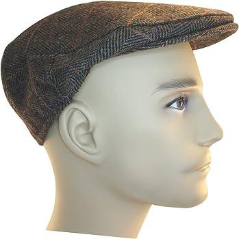 Shandon 100/% Wool Irish Flat Cap Brown Herringbone
