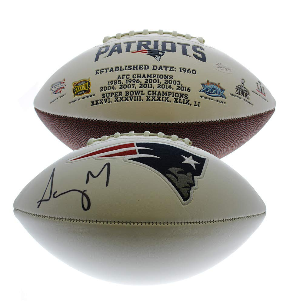 Sony Michel Autographed Signed New England Patriots White Panel Football - JSA Certified Authentic
