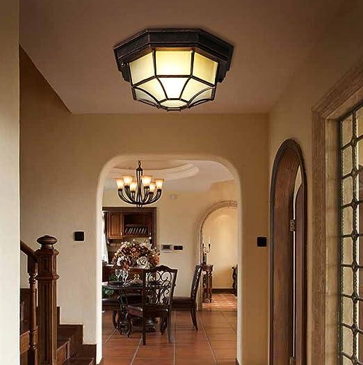 Plafón Vintage lámpara de techo Balcón luz exterior Piso Cocina Pasillo Vestíbulo de entrada Escaleras Antesala Antiguo Iluminación Retro aluminio ...