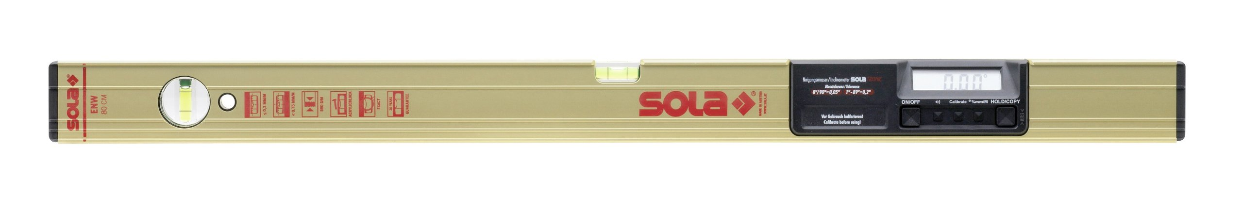 Sola Aluminum Box Level with Digital Electronic Inclinometer w/Carry Bag - ENW 60 T