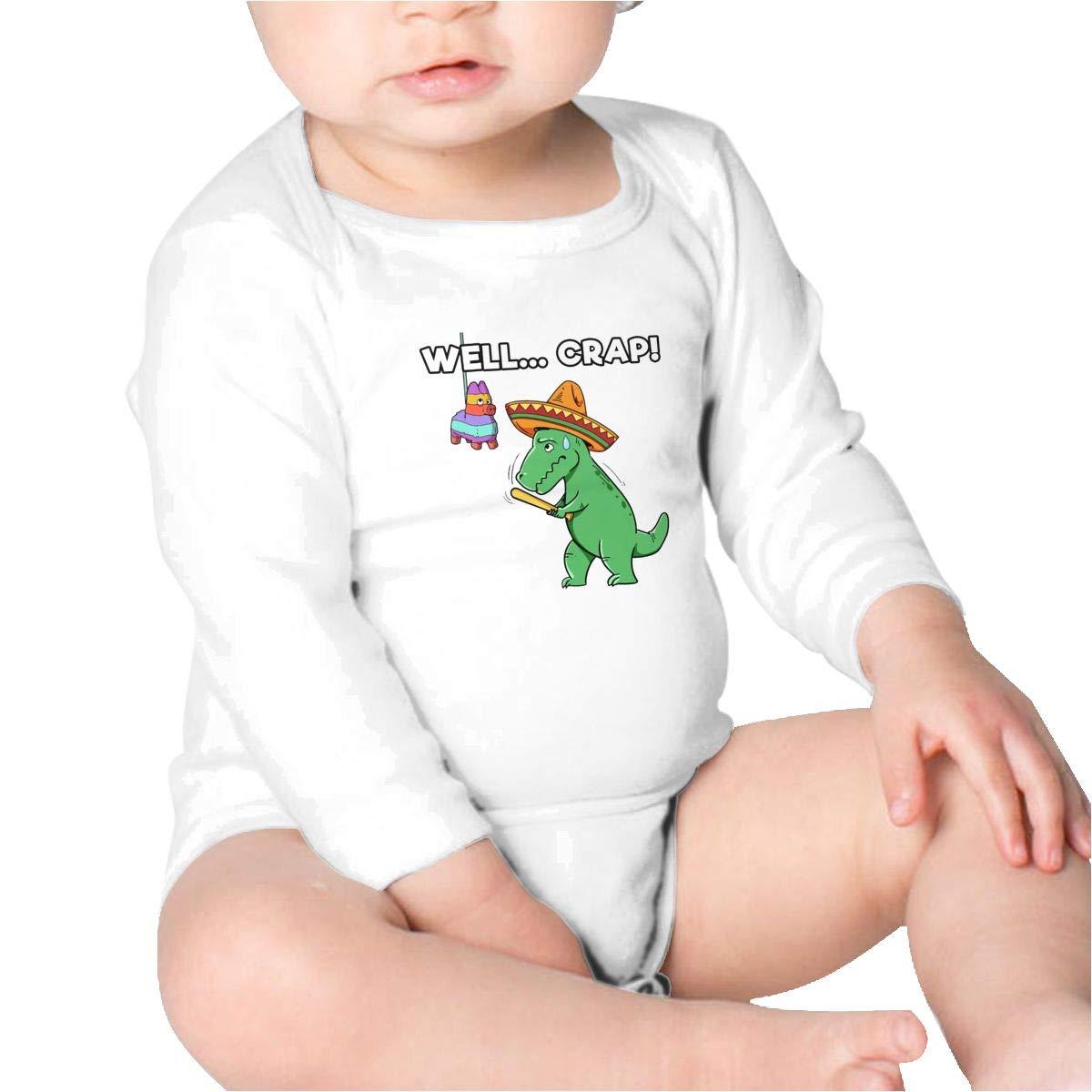 T Rex Cinco De Mayo Baby Cotton,Long Sleeve Baby Romper