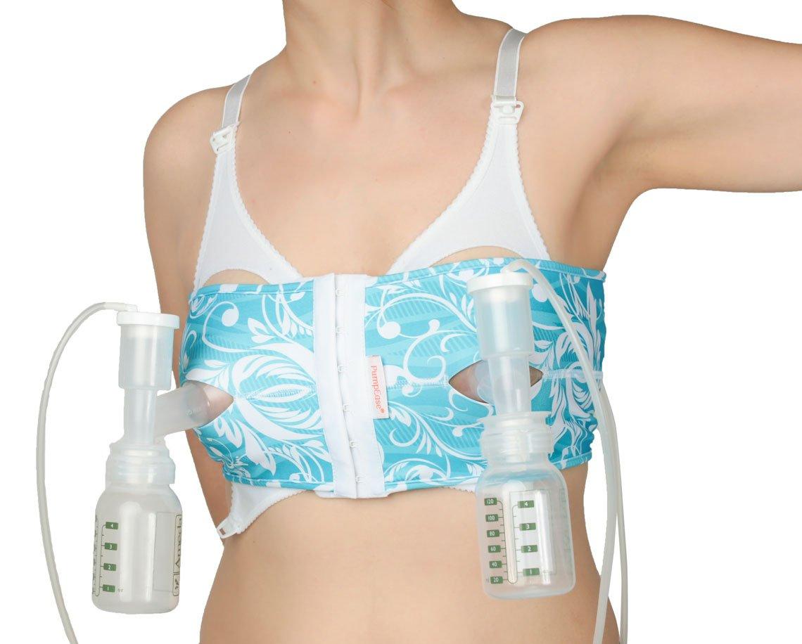 PumpEase hands-free pumping bra -TaTa Turquoise - M