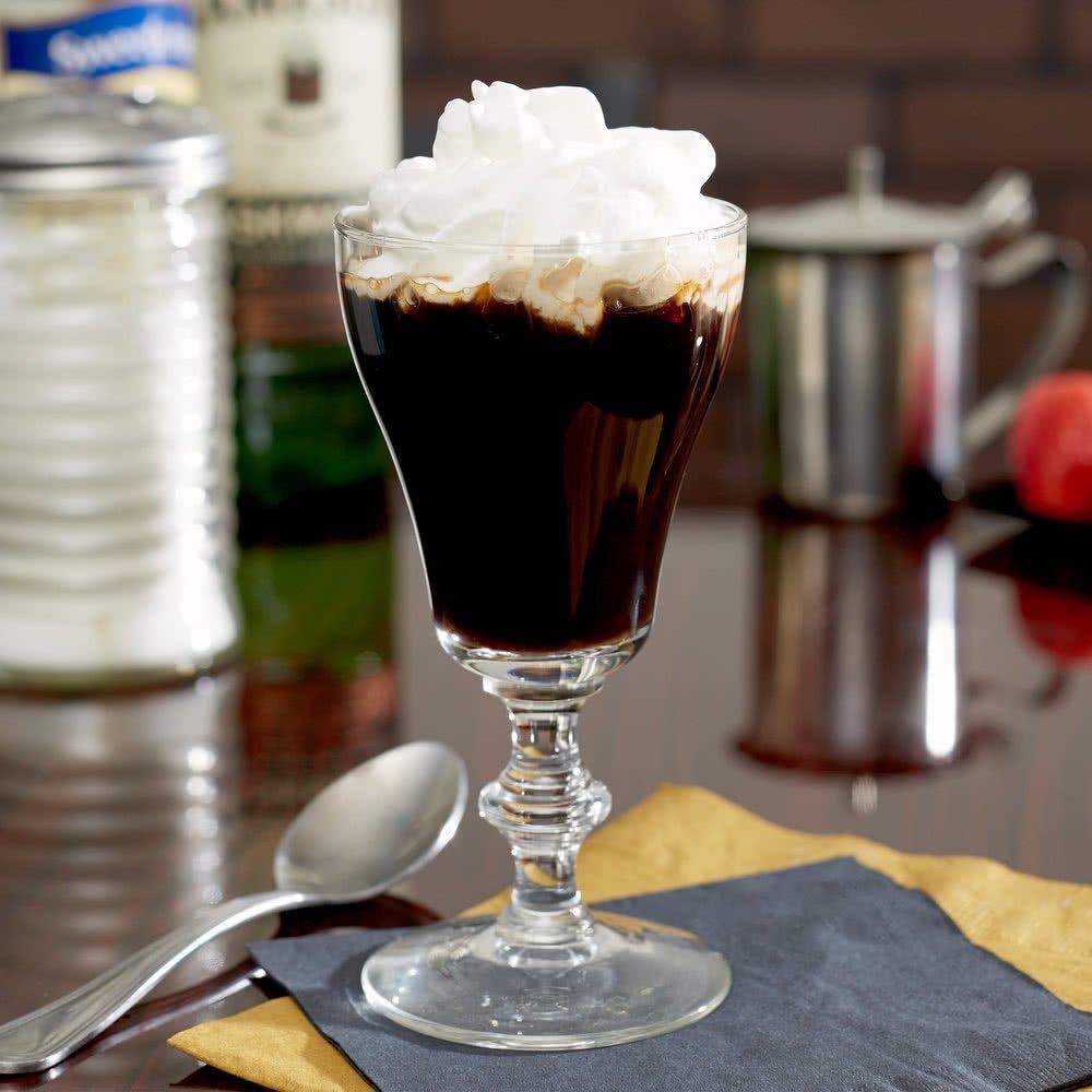 SET of 4, Libbey 8054 6 oz. Georgian Irish Coffee Glass w/ Signature Party Picks