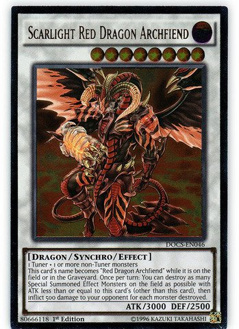 Yu-Gi-Oh! - Scarlight Red Dragon Archfiend (DOCS-EN046) - Dimension of Chaos - 1st Edition - Ultimate Rare