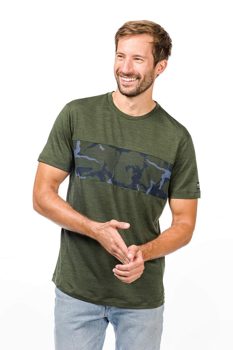 Super.natural Herren M Camo Merino T-Shirt