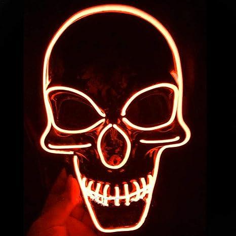 Horror Party Purge X-AUGEN LED Maske Halloween Deko Halloween Verkleidung