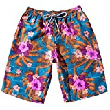 GREFER Men's Beach Trousers Loose Straight Thin Mid-Waist Shorts Couple Shorts