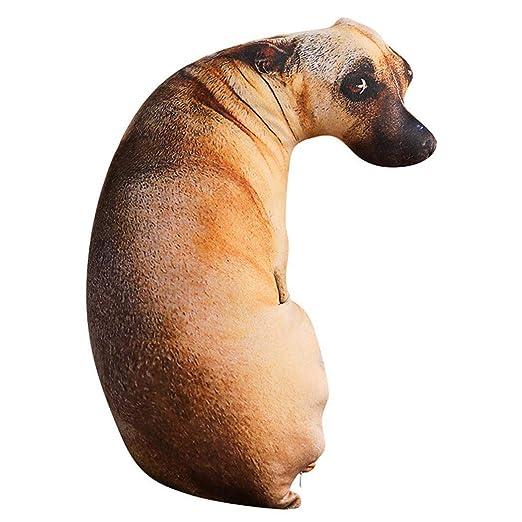 Creine Creativo 3D Forma de Perro cojín Bonito Peluche ...