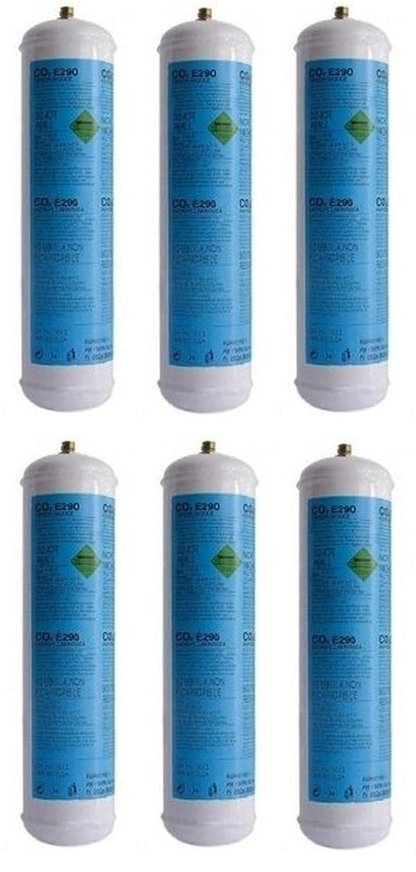 6 Bombola gas co2 600 gr E290 gasatore monouso frizzante valv. 11×1 CDR 03182003 Prezzi