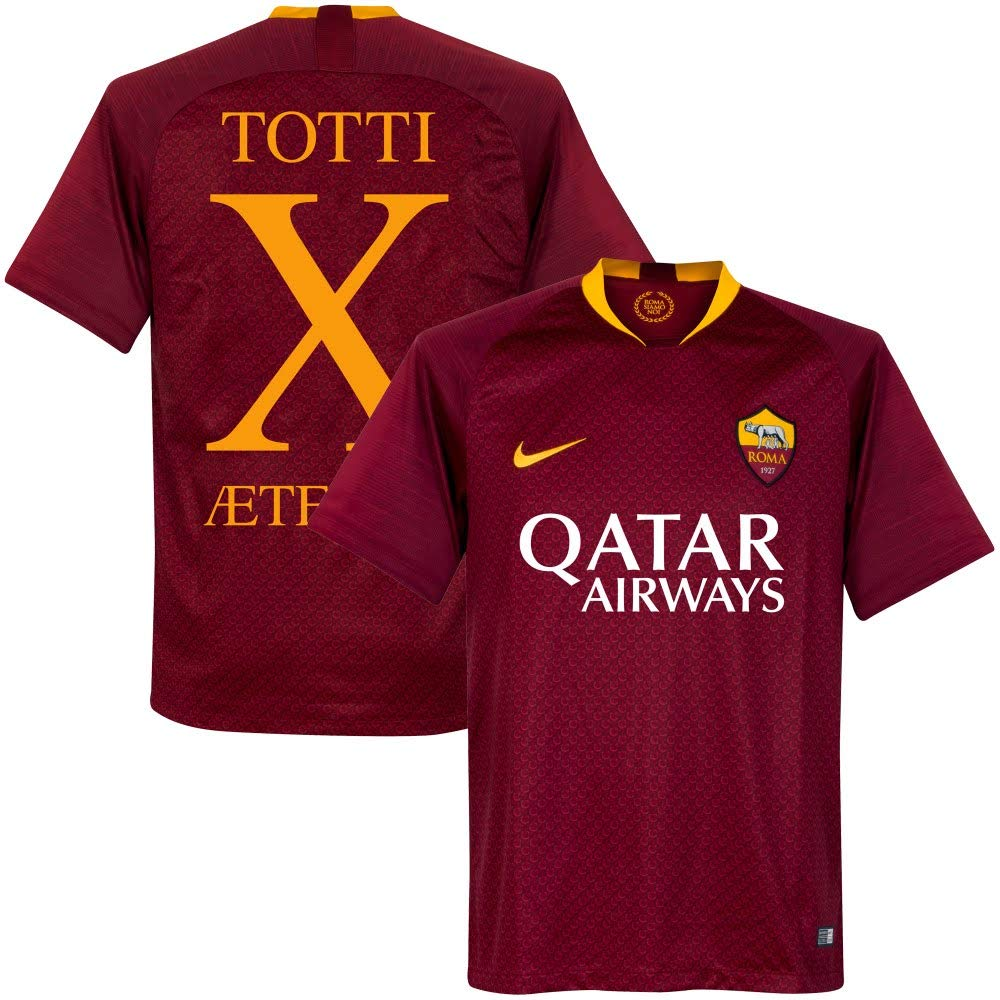 Nike AS Roma Home Totti 10 Shirt 2019 2020 (Fan Style Printing)