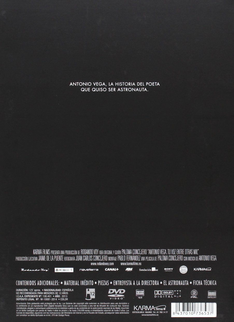 Antonio Vega: Tu voz entre otras mil [DVD]: Amazon.es: Antonio ...