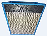 Chic Elephant Flower Handmade Reed Woven Basket, Fancy Color, Aesthetic Value (Blue #1)