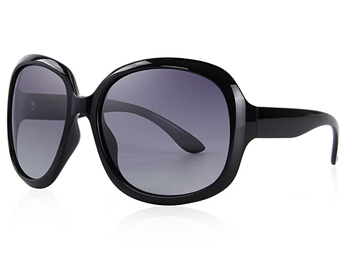 d8477c832d MERRY S Women s Polarized Driving Sunglasses Fashion Oversized Sun glasses  UV400 S6036 (Black