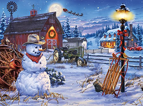 Christmas 1000 Piece Puzzle - Buffalo Games - Holiday Collection - Darrell Bush - Country Christmas - 1000 Piece Jigsaw Puzzle
