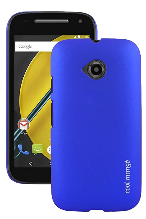 new style a91a7 3398f Moto E 2nd Gen Back Cover / Case - Cool Mango Premium Rubberized Back Cover  for Moto E 2nd Gen - Blue