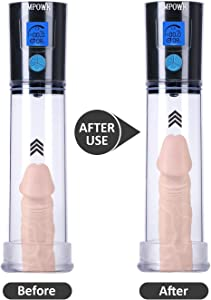 Autõmctic Vắcuum USB Rechắrgeable Pênnǐš Pump for Stronger Bigger Erêctiõns for Běgǐnněrs Men Male Elêctrõnic Enhancement Growth Pump Sěắx Tõys,Pênǐš Mắssắgê Enlắrge Air Prêssürê Device