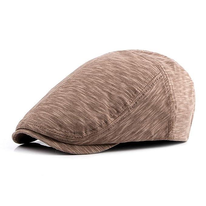 Houwo984 Gorra de algodón ajustable unisex Gorra de pato con rayas Ivy Vendedor de periódicos Gatsby estilo británico Gorra irlandesa (Color : 1, ...