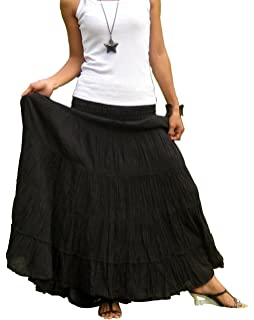b698465be77 Billy s Thai Shop Plus Size Maxi Skirt Long Skirts for Women Handmade Tiered  Skirt
