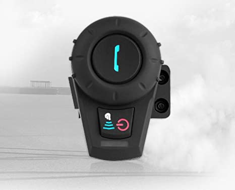 elegantstunning Auricular Walkie Talkie Bluetooth Inalámbrico Estéreo Casco para Moto