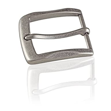 6138fef6ac0f64 Gürtelschnalle Buckle 40mm Metall Silber Antik - Buckle Gray -  Dornschliesse Für Gürtel Mit 4cm Breite