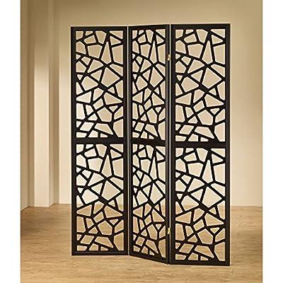 Coaster Furniture 3 Panel Mosaic Cut Room Divider - Black