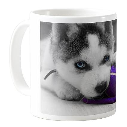 Amazon Com Aquasakura Siberian Husky Puppy 11oz Ceramic Coffee