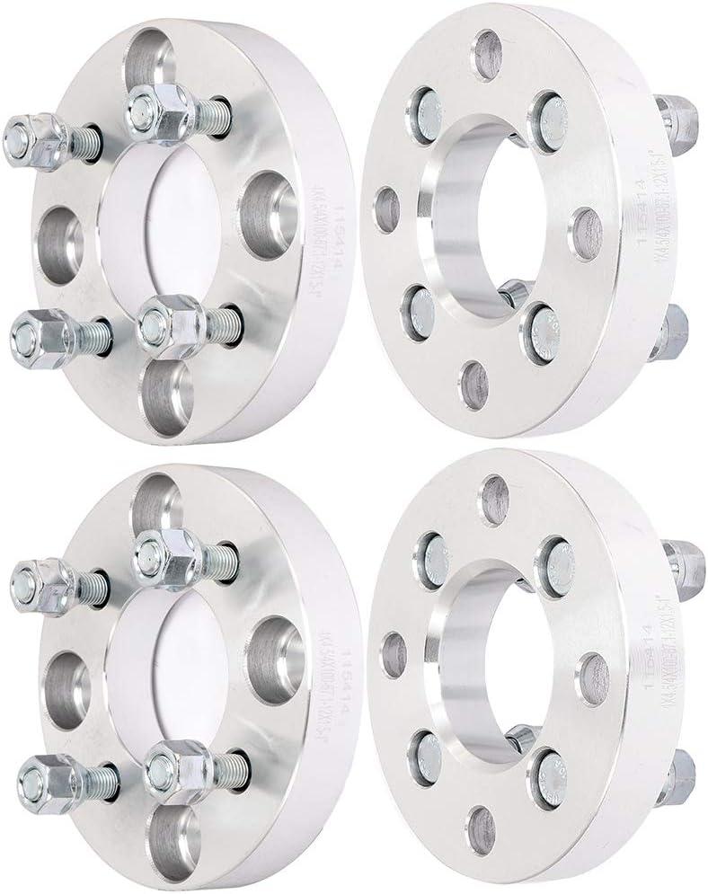 "ECCPP 4 pcs 1.25/"" 4x4.5 12x1.5 studs wheel spacers for Hyundai Honda Accord"