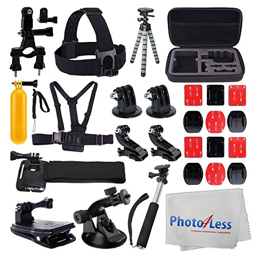 accessory-bundle-for-gopro-medium-carrying-case-floating-handle-extendable-monopod-card-reader-head-