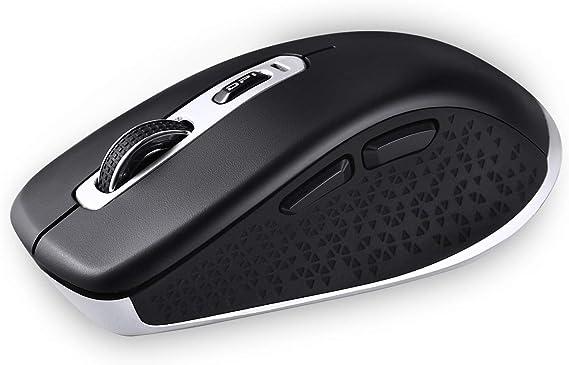 cimetech Ratón inalámbrico Bluetooth, 2.4GHz Ratón inalámbrico óptico Delgado silencioso de Modo Dual con 2400 dpi Compatible para PC, computadora ...