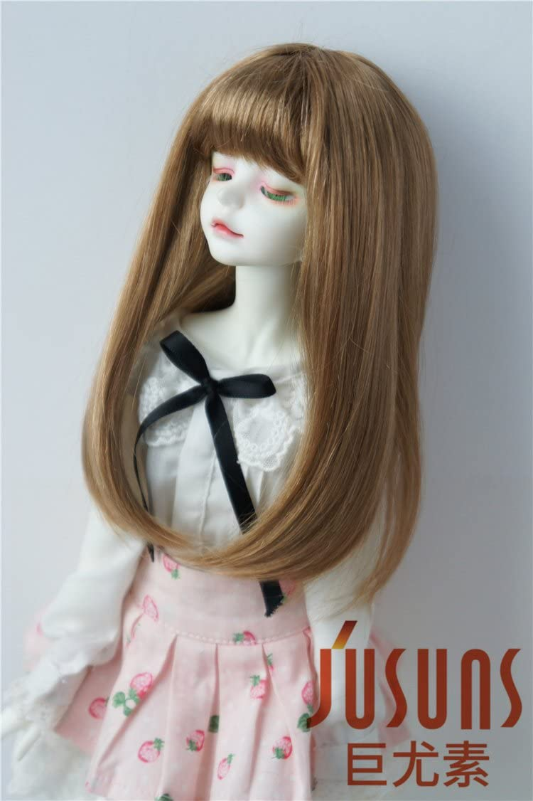 SIZE 7  DARK BROWN SUZANNE ANTIQUE MODERN DOLL WIG SYNTHETIC MOHAIR