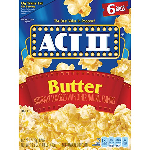 ACT II Butter Microwave Popcorn, 6-Count 2.75-oz. Bags