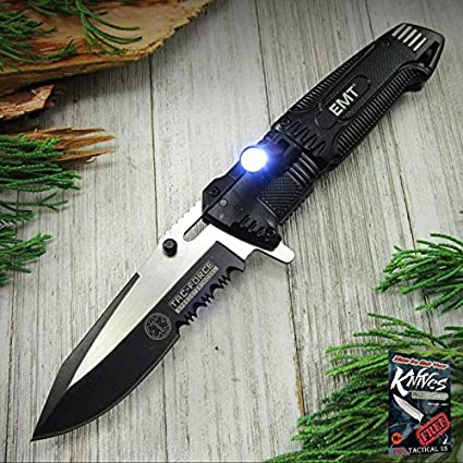 Amazon.com: Cuchillo plegable con resorte de Pocket Elite ...