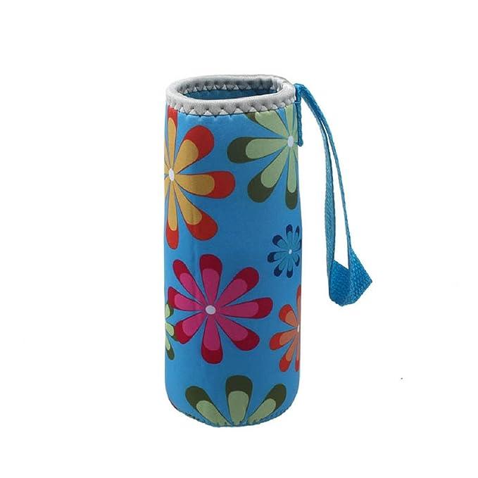 Malloom®500ML caliente térmico aislamiento térmico botella de agua bolsas termo taza bolso (azul)
