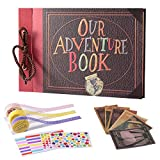 TEOYALL Our Adventure Book Scrapbook Photo Album DIY Family Anniversary Scrapbook Wonderful Gift for Birthday Wedding Thanksgiving Day Christmas
