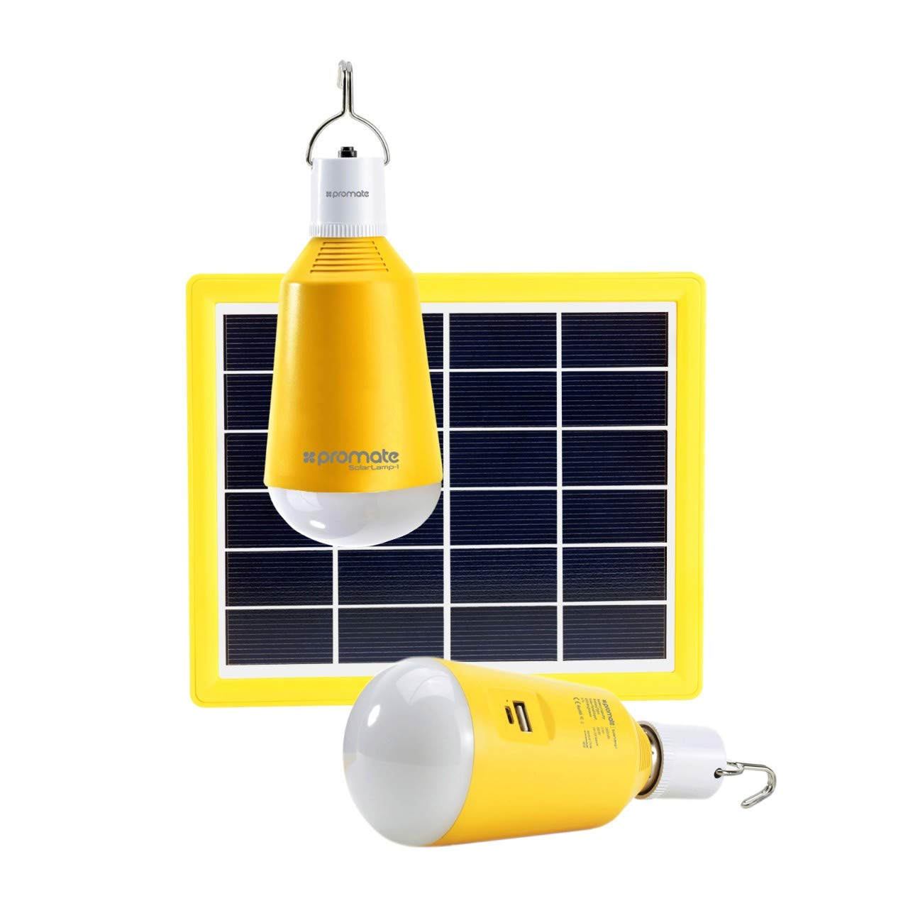 Solar Power Camping Light Telescopic USB Rechargeable Emergency LED Lamp~LY